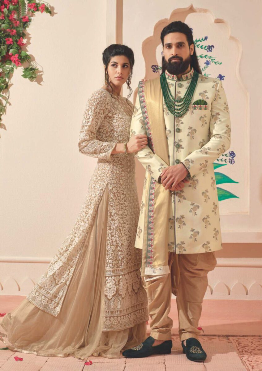 beige-Indo-western-suit