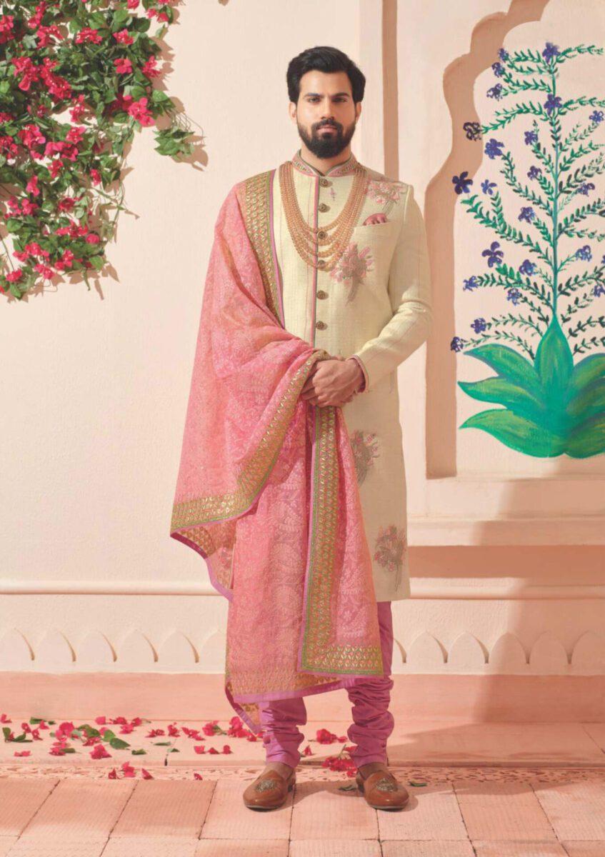 beige-pink-Indo-western-sherwani