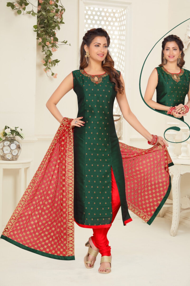 green red straight suit