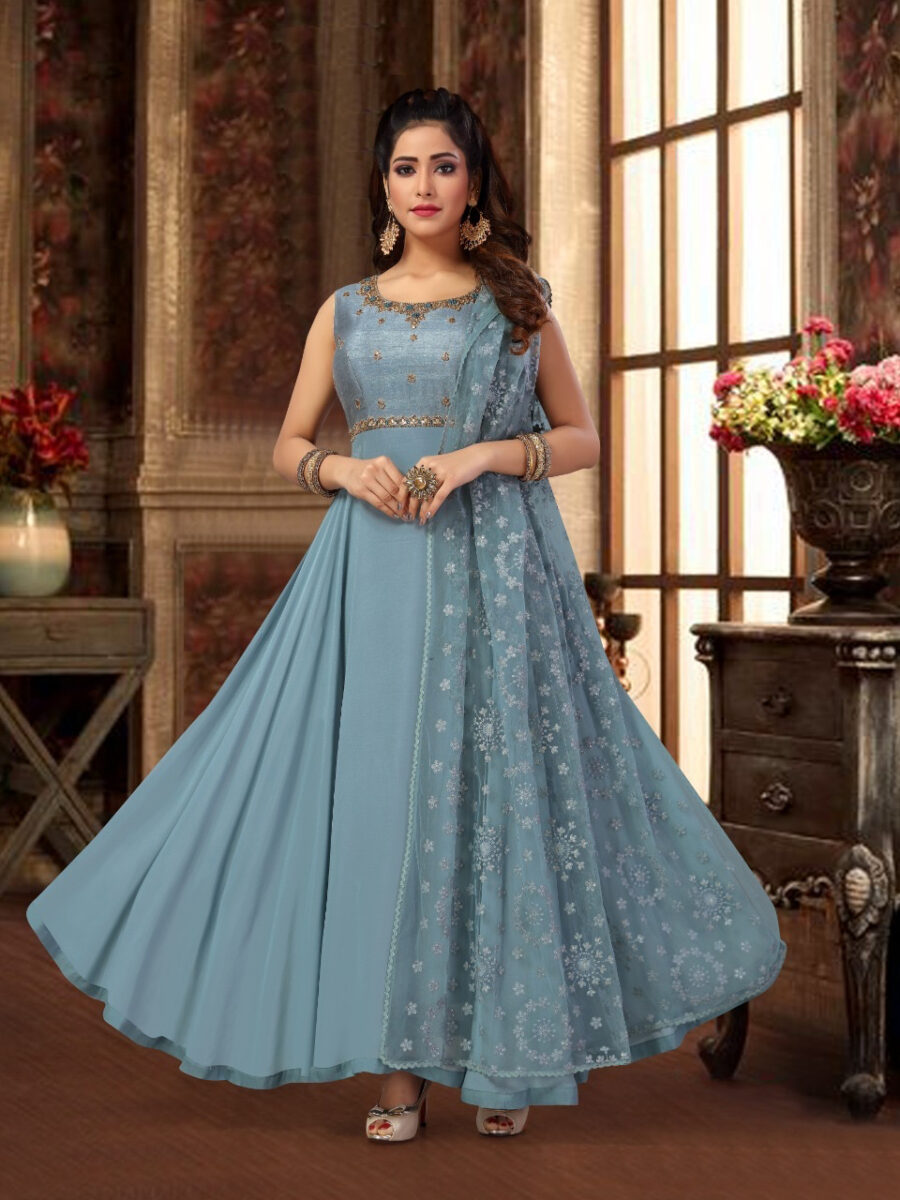 indian traditional anarkali gown
