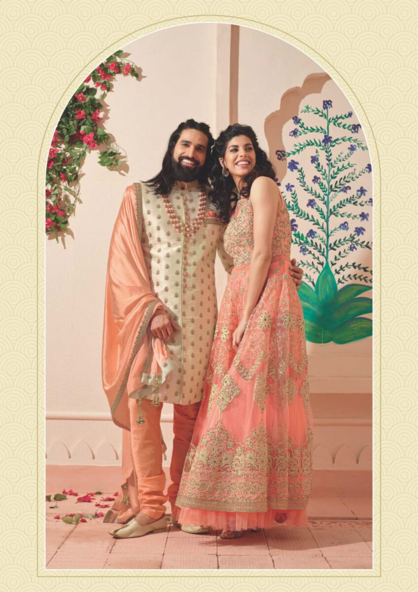 peach-beige-Indo-western-suit-for-men