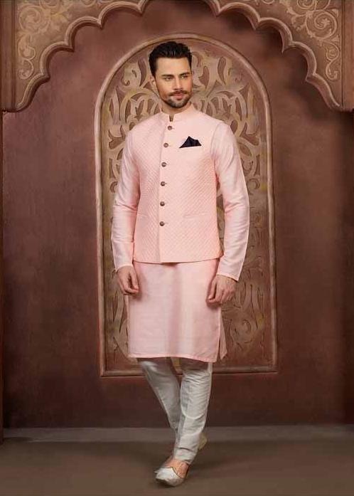 pink kurta pyjama