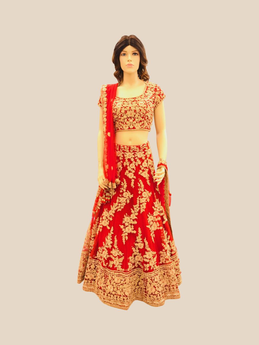 red bridal Lehenga fashion queen new jersey