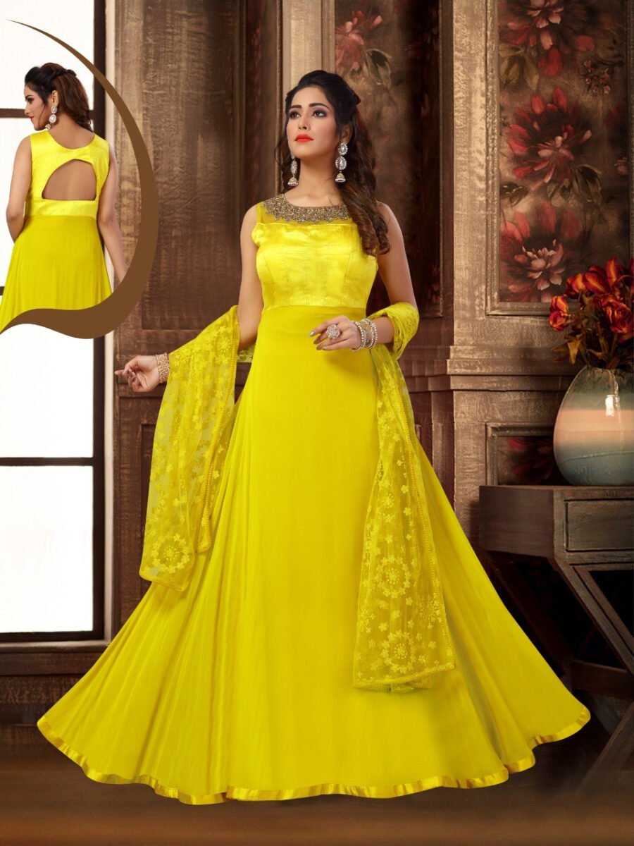 yellow indian gown new jersey