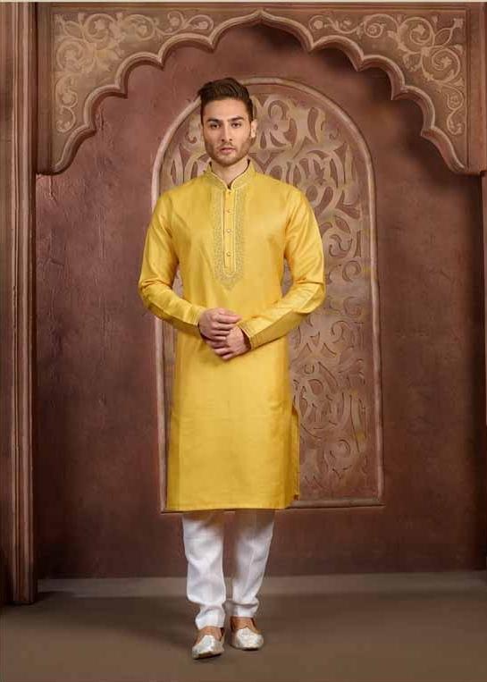 yellow kurta pyajama