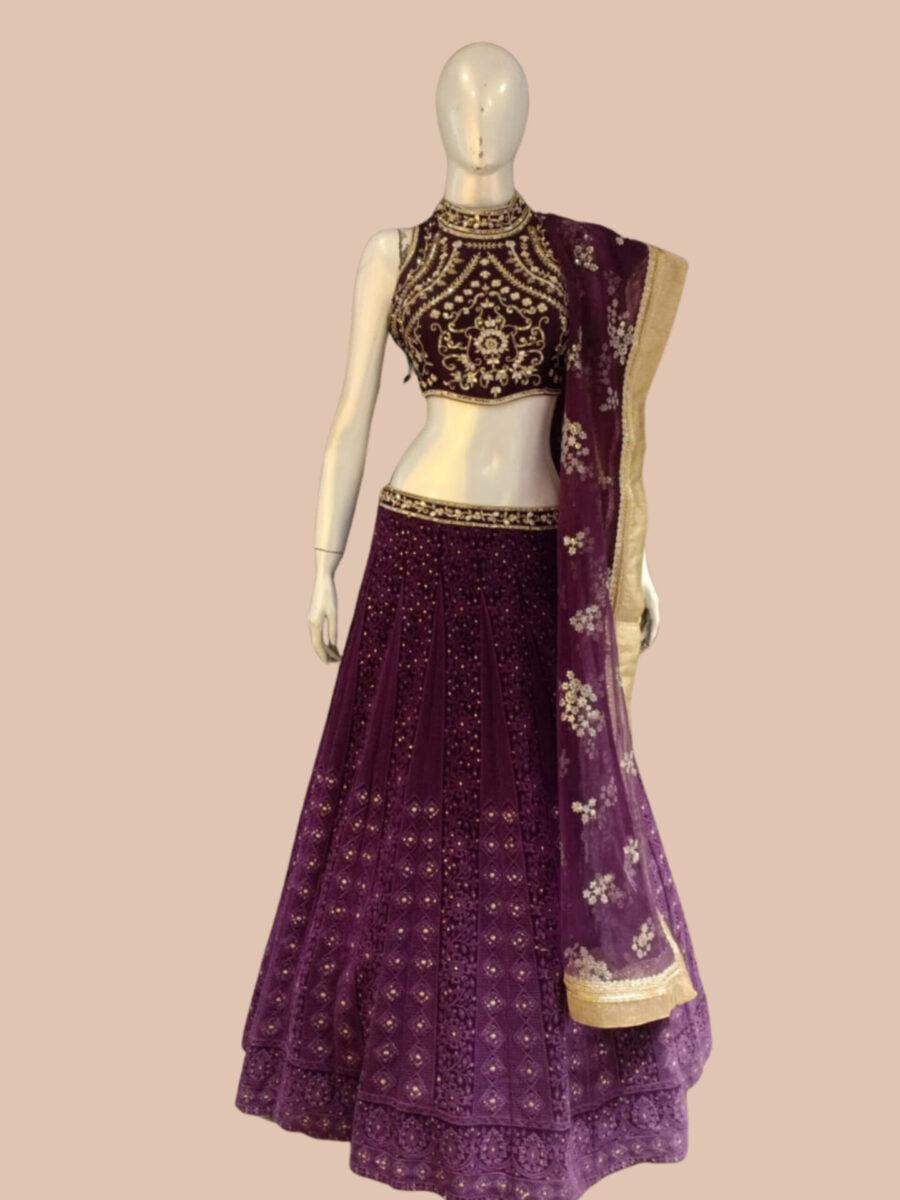 Purple Fashion Queen Bridals
