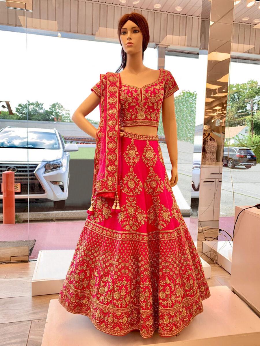pink bridal lehenga fashion queen edison nj